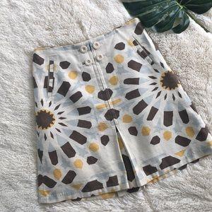 Elevenses Anthropologie Tribal Print Pleated Skirt